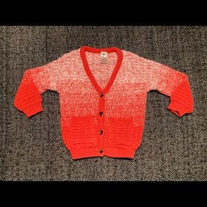 Oshkosh ombré orange cardigan size 2T